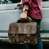 Denver Leather Briefcase | Dark Briar hover