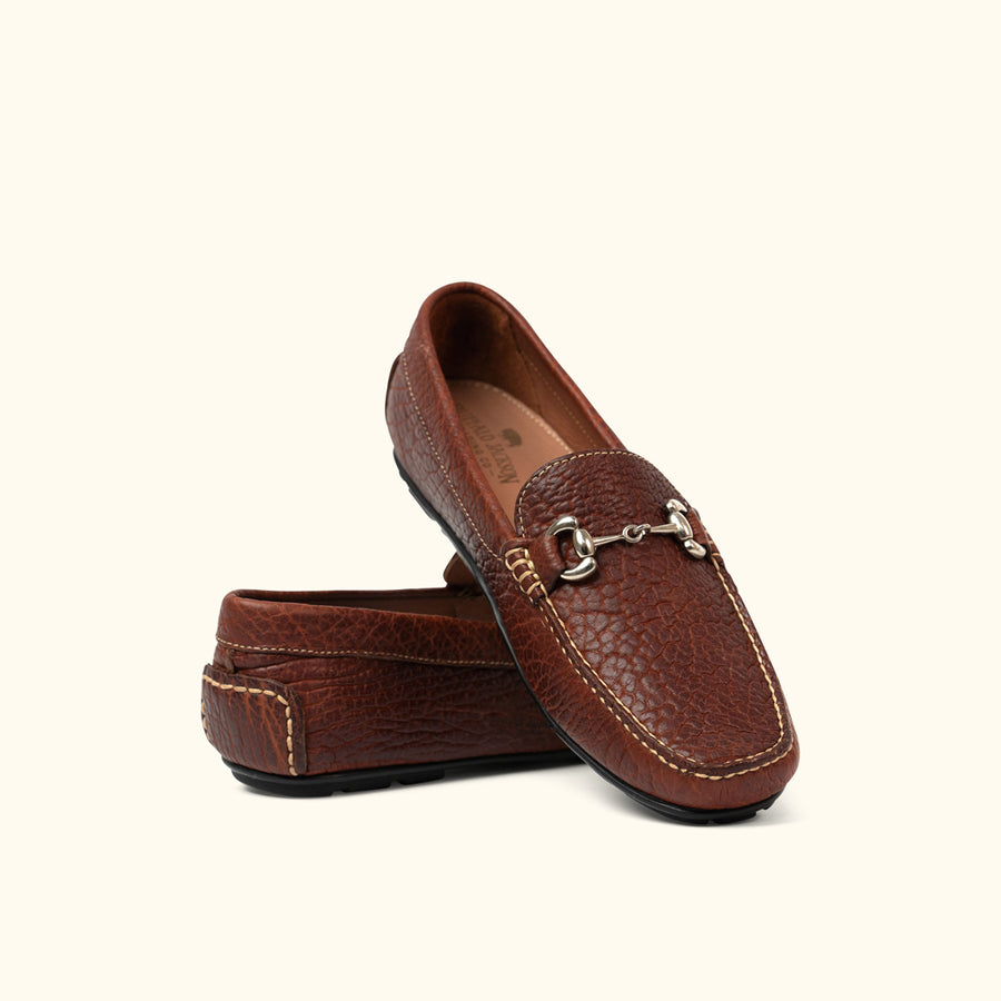 Laramie Bison Leather Horsebit Loafers | Walnut