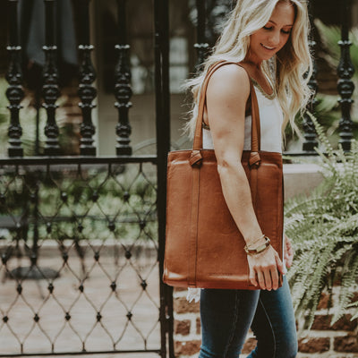 Chelsea Leather Tote | Honey Brown