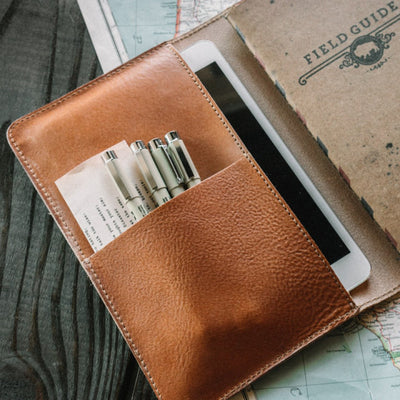 Dakota Leather Journal Cover Saddle Tan