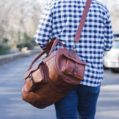Roosevelt Buffalo Leather Duffle Bag - Limited Edition | Cedar hover