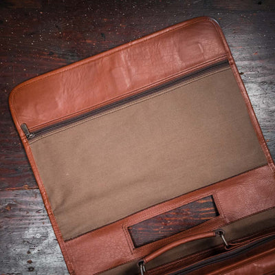 Quality Buffalo Leather Messenger Bag | Amber