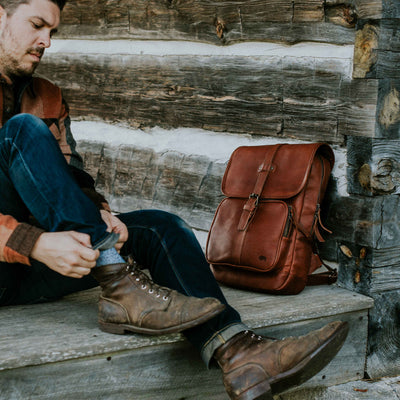 Denver Leather Backpack | Autumn Brown hover