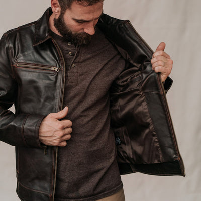 Buffalo Jackson Leather Mens Jacket