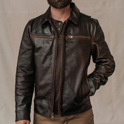 Men's Vintage Leather Jacket - Moto Stylre