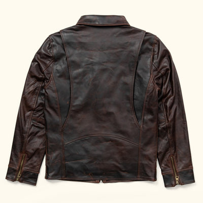 Men's Vintage Leather Jacket | Brown