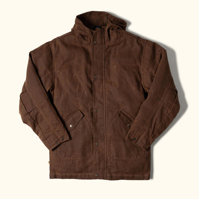 Marshall Mens Waxed Cotton Hooded Jacket