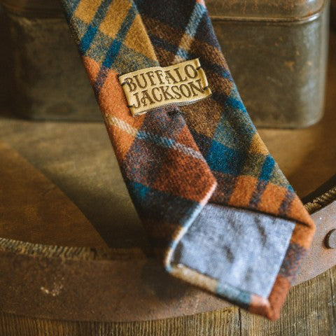 True Plaid Wool Necktie | Harvest