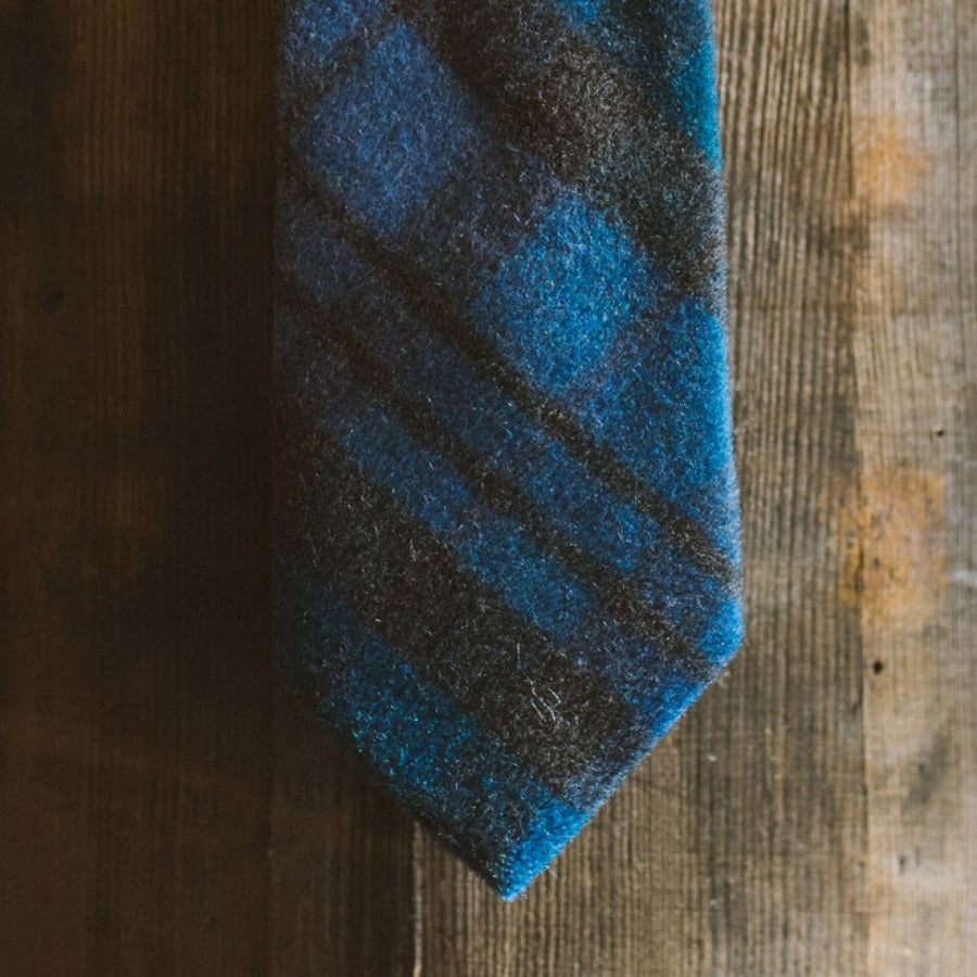 True Plaid Wool Necktie | Ocean