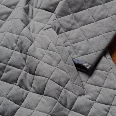 Men's Concord Grey Quilted Pullover with Flannel Trim