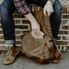 Vintage Waxed Canvas Messenger Bag Khaki