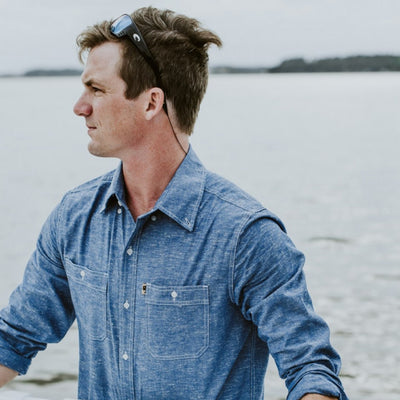 Harbor Chambray Shirt - Chesapeake Blue