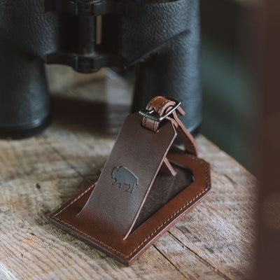 Vintage Leather Travel luggage tag