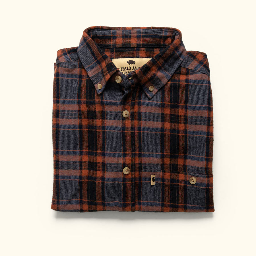 Men's Rugged Fall Flannel Fairbanks Autumn Stone