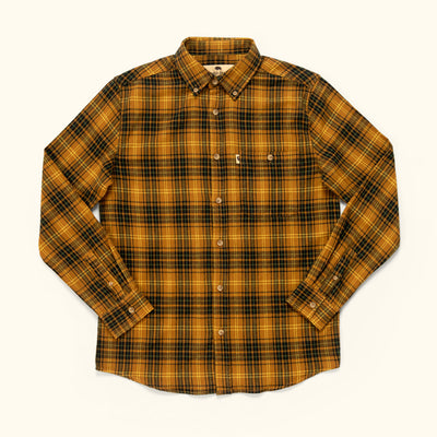 Men's Rugged Fall Fairbanks Flannel - Gold rush