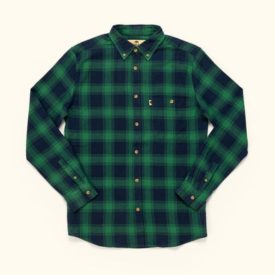 Men's Rugged Fall Flannel Shirt Pine Forest
