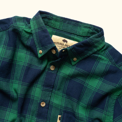 Men's Vintage Work Flannel Shirt Pine Forest
