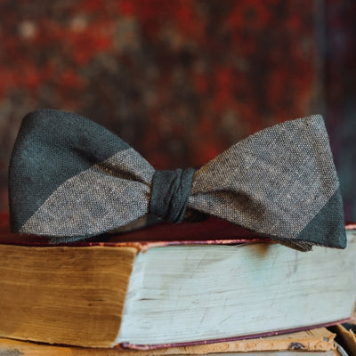 Heathered Stripe Cotton Bow Tie