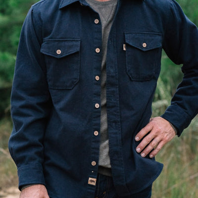 Gunner Cotton Twill Shirt Jac - Lost Cove Navy