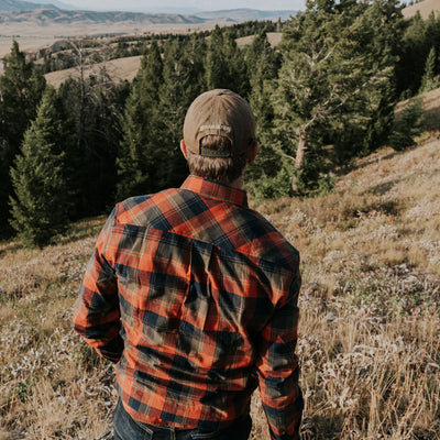 mens fall work flannel
