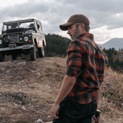 Men's rugged fall flannel