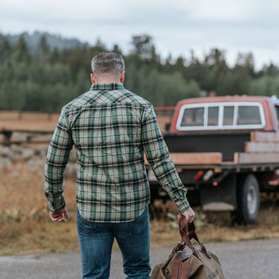 Mens fall cold weather work flannel