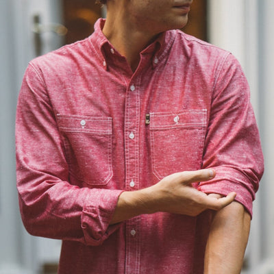 Harbor Chambray Shirt - Nantucket Red