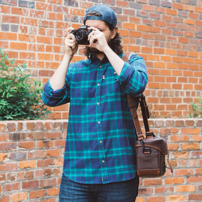Dakota Leather Camera Bag | Dark Hazelnut w/ Chestnut Brown hover