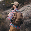 Rugged Canvas Hiking Backpack Khaki
