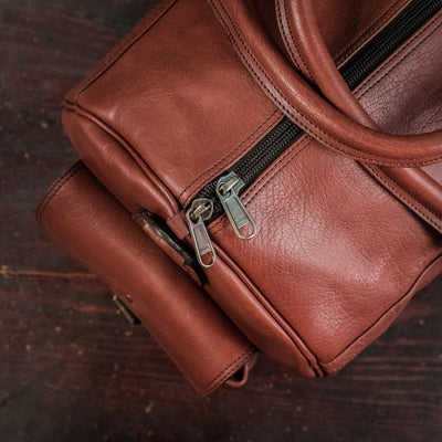 Roosevelt Buffalo Leather Duffle Bag - Limited Edition | Cedar