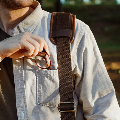 Classic Leather Messenger Bag | Vintage Oak