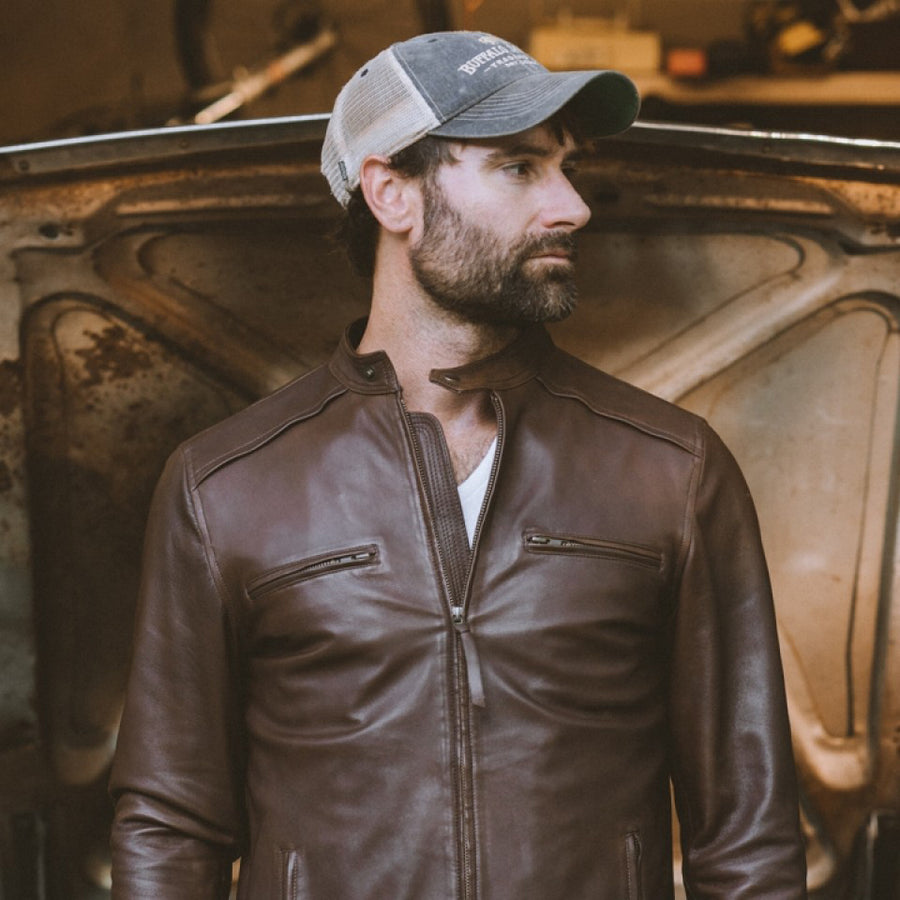 Thompson Leather Jacket | Brown