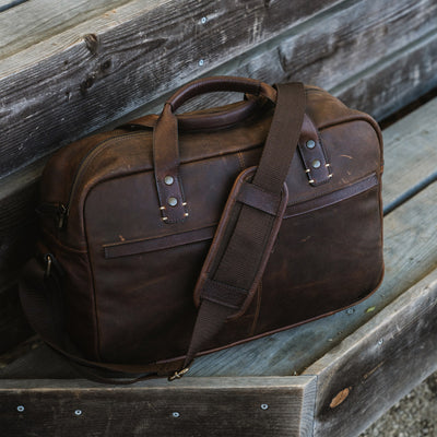 Full Grain Leather Pilot Bag | Vintage Oak