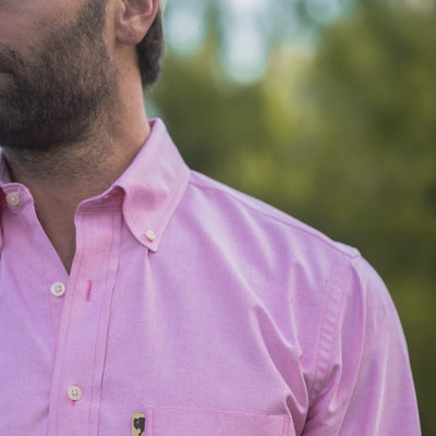 Montana Oxford Dress Shirt - Raspberry
