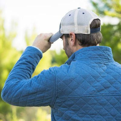 Men's Cannon Quilted Pullover - Watersprite Blue