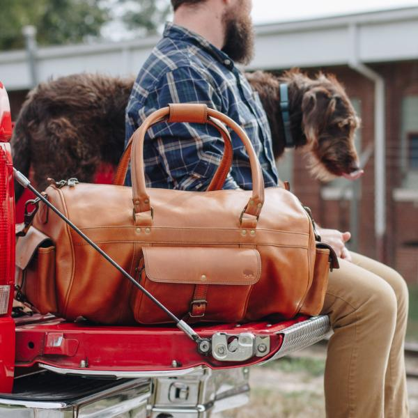 Roosevelt Buffalo Leather Duffle Bag | Barley