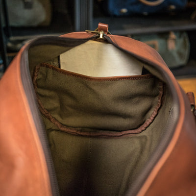 Roosevelt Vintage Leather Duffle Bag