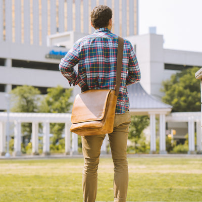 Roosevelt Buffalo Leather Satchel Messenger Bag | Barley hover