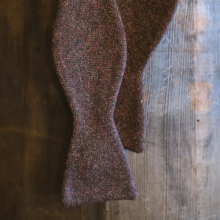 Mens Plade Wool Bowtie