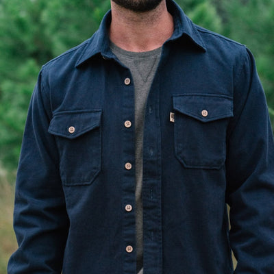 Gunner Cotton Twill Shirt Jac - Lost Cove Navy hover