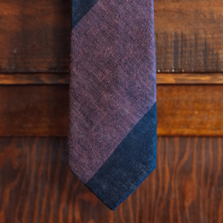 Heathered Stripe Cotton Necktie