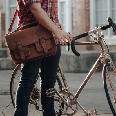 Denver Leather Briefcase | Sienna Brown hover