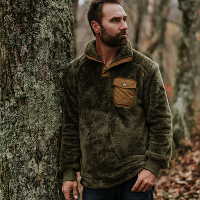 Best Mens Fleece Pullover Kodiak Birchwood green hover