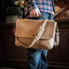 Denver Leather Messenger Bag - Whiskey hover