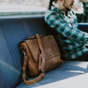 Denver Leather Messenger Bag - Sienna Brown hover