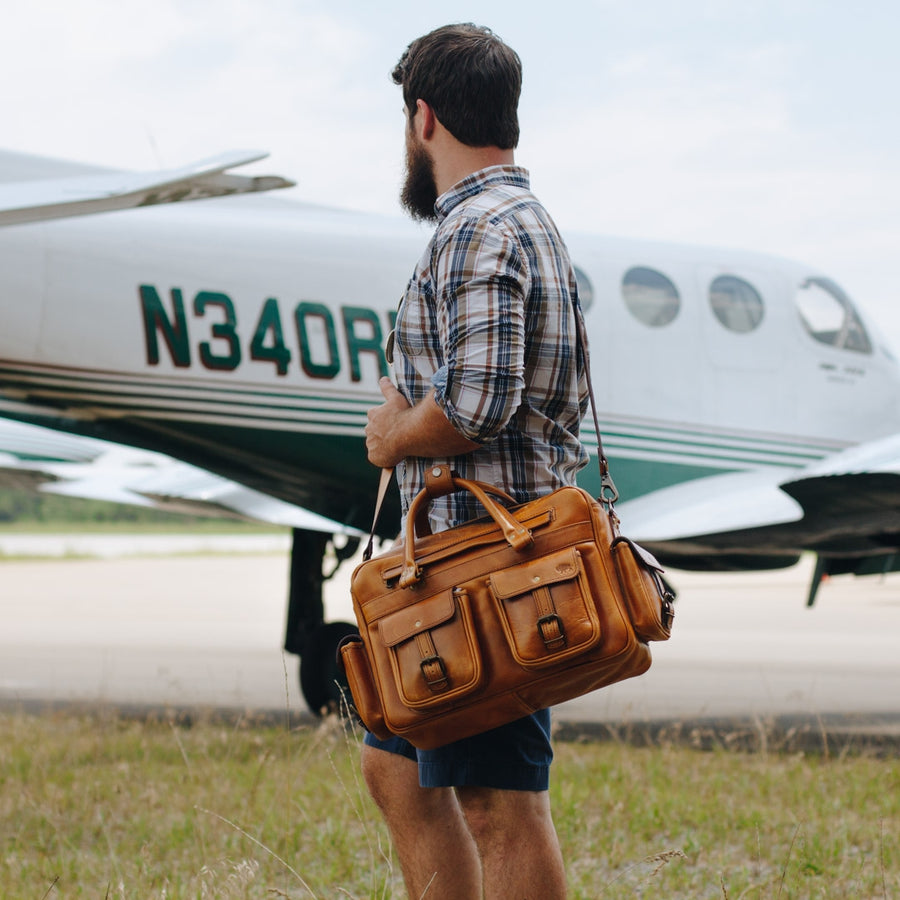 Roosevelt Buffalo Leather Pilot Bag | Barley