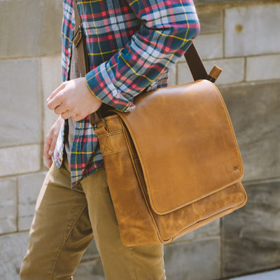 Roosevelt Buffalo Leather Satchel Messenger Bag | Barley