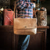 Denver Leather Messenger Bag - Whiskey