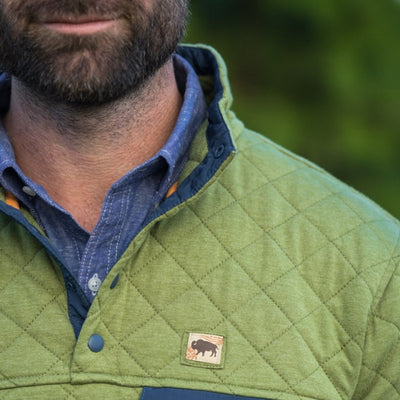 Men's Cannon Quilted Pullover - Acadia Green