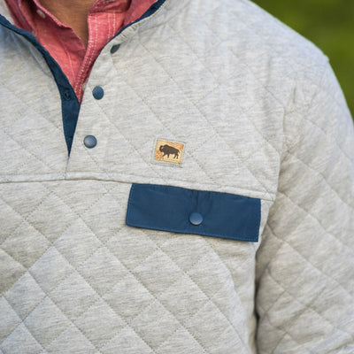 Men's Cannon Quilted Pullover - Snow Fox Gray